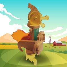 Could you tell us how many pieces we needed to set up this rooster? Tigger, Wooden Toys, Good Morning, Rooster, Disney Characters, Fictional Characters, Creativity, Kids, Woodworking Toys