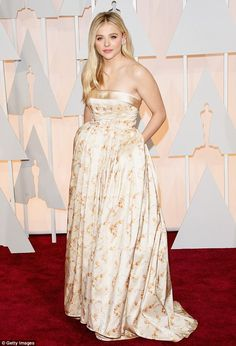 Glammed up at the Oscars: our girl can transition from stylish to plain-folk without missing a beat