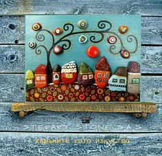 Pebble Art House art Stone Art Pebble Art Family Home