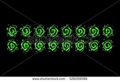 Sprite sheet of a green portal, a poisonous vortex, a nature vortex or something else. Animation for game or cartoon.