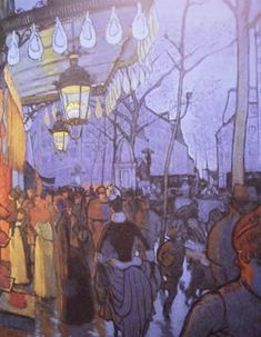 Louis Anquetin (1861-1932) - Paris - Avenue de Clichy à 5 heures