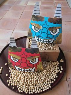 """""""Banishing demons one bean at a time: Purging evil takes a tasty twist during the Setsubun festival"""" a great article by the Japan Times. Setsubun is celebrated on February 3rd, and is one of my favorite memories from Japan. Now that I know that shelled peanuts are an alternative to the traditional soybeans, the oni will have to watch out next Febuary!"""