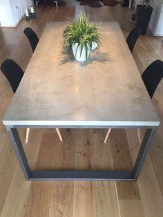 table Concrete 180 cm x 90 cm x 76 cm Esstisch Beton x x Concrete Table Top, Granite Table, Diy Concrete, Diy Table Top, Diy Dining Table, Table Beton, First Apartment Essentials, Diy Esstisch, Concrete Furniture