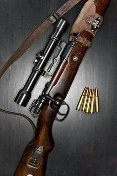German Mauser K98 set up for sniper work. What a beautiful weapon!