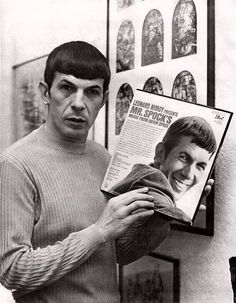 Am I just being silly, or does Leonard Nimoy look kinda like Jim Carrey in Dumb and Dumber here?