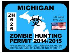 Michigan Zombie Hunting Permit