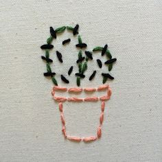 "vangoghkid: ""lil cactus embroidery I did today while listening to talking heads on vinyl """