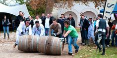 Revellers enjoying the barrell rolling competition at the Wacky Wine Festival South Africa Tours, Provinces Of South Africa, South Africa Safari, Cape Town South Africa, World Festival, Wine Festival, Glastonbury Music Festival, Black Rock Desert, Kruger National Park