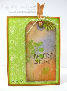 Paper Smooches SPARKS: October 15-21 Cool Shades challenge--card by SPARKS DT Lori--using the PS stamp set Autumn Groves