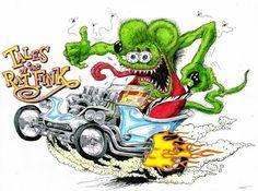 Details about RAT FINK Vinyl Decal / Sticker ** 5 Sizes - Cartoons - Motocicletas Rat Fink, Cartoon Drawings, Cartoon Art, Cartoon Pics, Ed Roth Art, Classic Hot Rod, Kustom Kulture, Monster Art, Big Daddy