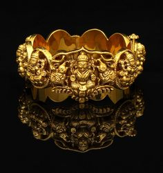 Gold Bangle | Antique Finish Lakshmi Kada