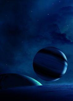 Blue planets.