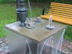 Интересный дизайн дачного фонтана