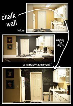 chalk board wall. #chalk