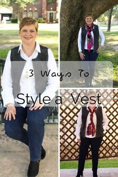 Three Ways to Style A Vest | Styling The Genuine Leather Vest from Chadwicks of Boston. #ad #affordablequality #chadwicksofboston