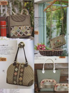 January 2015 Published  96 Pages  37 Patchwork Projects Bags, Pouch, Purse, Sewing Kits, Sampler, Basket, and More...  This book has ACTUAL SIZE OF