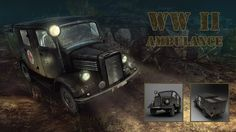 3D low-poly model ww2 vehicle  for PC game. Fanatic Games ltd - 3D graphic & outsourcing studio