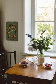 Tiny table near a window