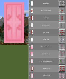 Minecraft Banner Patterns, Cool Minecraft Banners, Minecraft Room, Minecraft Decorations, Amazing Minecraft, Minecraft Crafts, Minecraft Furniture, Minecraft Banner Alphabet, Minecraft Banner Crafting