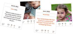 Blinkbuggy - online baby book, choose which social media you share (all or none), write letters to your babies for the future, lots of customization and privacy settings.