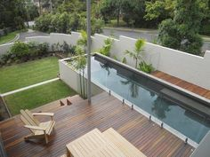 Absolutely nothing is much more soothing than relaxing by a sensational pool as well as going for a swim. Absolutely nothing is much more soothing than relaxing by a sensational pool as well as going for a swim. Backyard Pool Designs, Small Pools, Small Backyard Landscaping, Landscaping Design, Small Backyards, Backyard Ideas, Sloped Backyard, Mulch Landscaping, Pool Landscape Design