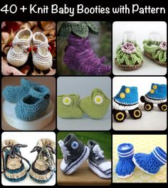 40 Knit Baby Booties with Pattern