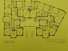 Floor Plans, Bromley Court, Cambridge, MA, 1909. Newhall & Blevins. – St. Croix Architecture