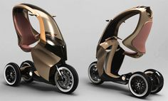 Piaggio P. (Personal Advance Mobility) concept vehicle was Simone Madella's thesis. This project was realized thanks to the participation of Piaggio Electric Scooter, Electric Cars, Electric Vehicle, E Biker, Future Transportation, Futuristic Motorcycle, Go Kart, Reverse Trike, E Scooter