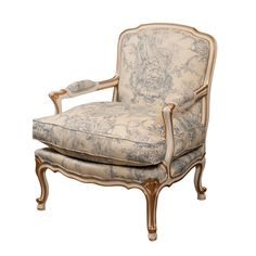 Louis XV Bergere with Loose Cushion Gilded 1