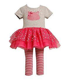 Bonnie Jean Toddler Kitty Tutu Dress and Legging Set #Dillards