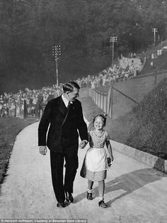 The fact that Hitler was pictured with children so often was also no mistake - it helped soften his image but in fact he hated children.