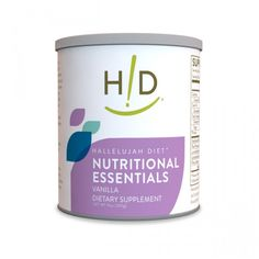 HD Nutritional Essentials - Vanilla - Hallelujah Diet's Nutritional Essentials is a great tasting, vanilla flavor, whole food supplement that provides a stable variety of essential nutrients.