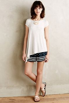Dotted Line Shorts #anthropologie