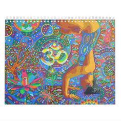 Shop Yoga Art Calendar by Karmym for 2016 created by karmym. Event Template, Art Calendar, Yoga Art, Holidays And Events, Gifts For Family, Yoga Poses, Holiday Gifts, Vibrant, Tapestry