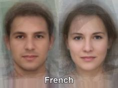 The typical French face from thousands and thousands of images of everyday people compiled together into one composite portrait. To see more, go here. http://www.mediadump.com/hosted-id167-average-faces-from-around-the-world.html