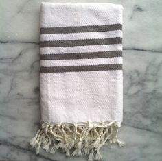 Grey stripe dish towel