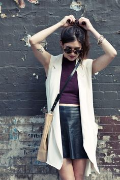 leather + cashmere