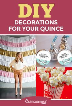 Here are a few ideas that might help you save money during the planning of your Quinceanera! - See more at: http://www.quinceanera.com/decorations-themes/save-money-using-diy-decorations-quince/?utm_source=pinterest&utm_medium=social&utm_campaign=article-021316-decorations-themes-save-money-using-diy-decorations-quince#sthash.md9qsSQw.dpuf