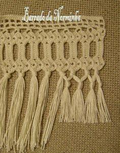 ru / Photo # 69 - heklet hekle for håndklær - Crochet Lace Edging, Crochet Borders, Crochet Doilies, Knit Crochet, Stitch Patterns, Knitted Afghans, Lace Border, Chrochet, Bangs
