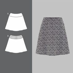 Skirt with A-shape - Stoff & Stil Easy Sewing Projects, Sewing Hacks, Pattern Design, Free Pattern, Craft Supplies Online, Techniques Couture, Buy Fabric, Haberdashery, Facon