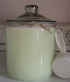 How to Make Homemade Laundry Detergent - save money, control the scent and avoid unnecessary chemicals.