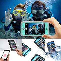 Roybens 100% Waterproof Case For iPhone 6 6S 4.7 Diving Underwater Full Body Touch ID Hard PC TPU Hybrid Armor Mobile Phone Bag