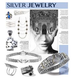 """""""Sweet Silver Jewelry"""" by leatherlena ❤ liked on Polyvore"""