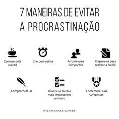 Chega de procrastinação! Garanta o seu Planejador de vida no nosso site e organize sua rotina! #vidaorganizada #procrastinação #produtividade #organização