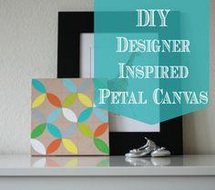 DIY Designer Inspired Petal Canvas Nursery Wall Art