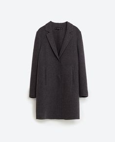 Image 8 of COAT WITH CONCEALED SEAM from Zara