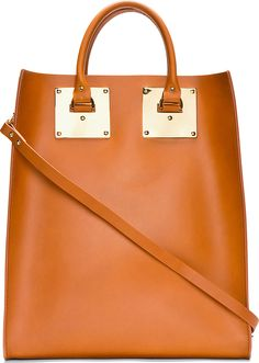 Sophie Hulme - Cognac Structured Leather Tote Bag | SSENSE, 648USD