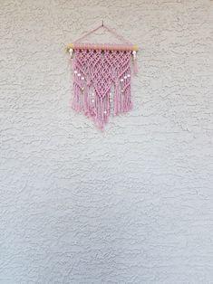 Dusty Pink Macrame Wall Hanging Macrame Wall Hanging Boho   Etsy Nursery Nook, Boho Nursery, Bohemian Chic Fashion, Boho Chic, Large Macrame Wall Hanging, Macrame Cord, Boho Baby, Dusty Pink, Wall Hangings