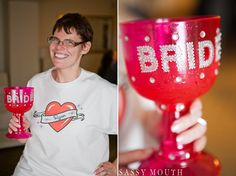 BRIDE Pink Pimp Cup Geek Chic Wedding - CT Science Center - Sassy Mouth