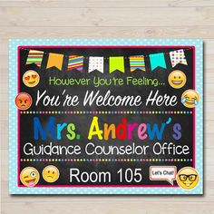 School Counselor Door Sign, Child Counselor Door Sign, Back to School Counselor…
